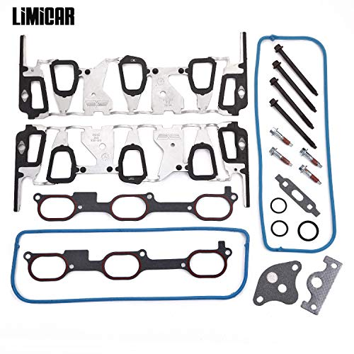 - LIMICAR Intake Manifold Gasket Kit with Bolts 19169127 Compatible with Buick Olds Pontiac Chevy GM 3.1L 3.4L Engine