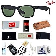 Ray-Ban RB2132 New Wayfarer Sunglasses with Deluxe Eyewear Accessories Bundle