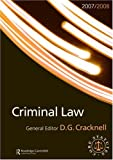 Criminal Law 2007-2008, Douglas Cracknell, 0415451213