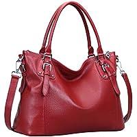 Heshe Womens Genuinne Leather Handbags Tote Top Handle Bag Shoulder Bag for Women Crossbody Bags Ladies Designer Purse