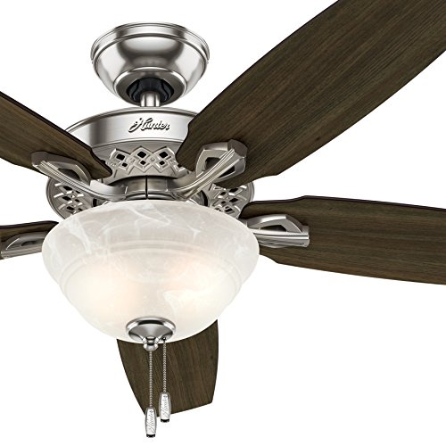 Hunter fan 52 inch Indoor Brushed Nickel Ceiling Fan With Bowl Light kit Certified Refurbished