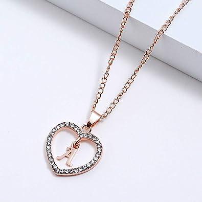 Amazon Com Sisimom Necklace Alphabet Letter Charm Necklaces