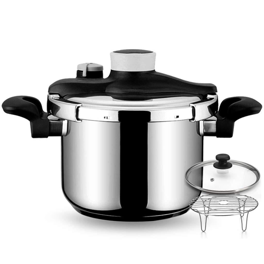 家庭用圧力鍋 ステンレス鋼圧力鍋家庭用ガス誘導炊飯器ユニバーサル複合ボトム防爆 時間を節約 (サイズ : 5L) 5L  B07SRZYTKV