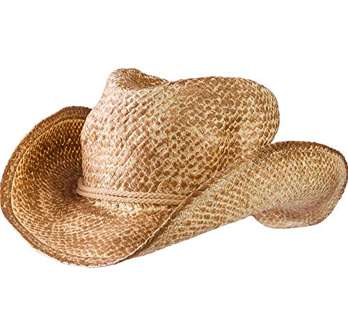 (AMSCAN Straw Cowboy Hat Halloween Costume Accessories for Adults, One Size, 12