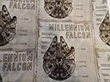 Beige Star Wars/ Millineum Falcon Shopping Tote/ Market Bag 14x18 inches