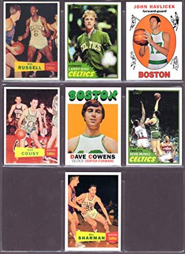 2020 Topps Basketball - Boston Celtics (7) Card Basketball Rookie Reprint Lot **Including Bill Russell, Larry Bird (2nd Yr Card), John Havliek, Bob Cousey, Dave Cowens, Kevin McHale, Bill Sharman