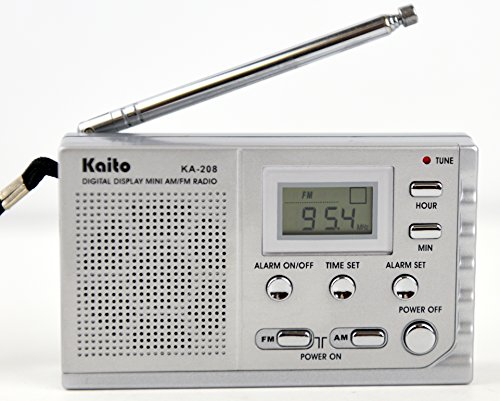 Kaito KA208 Super Mini Size AM/FM Radio with LCD Digital Display for Fine Tuning