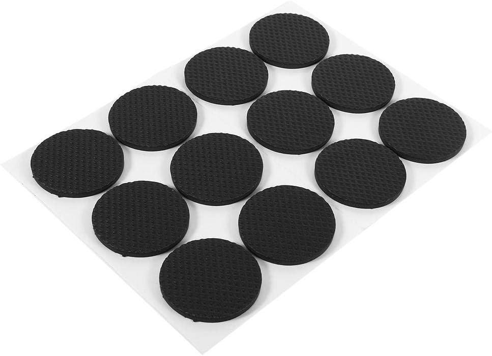 Meubles etc. Protection pour Meubles Rond Patins Meubles en Caoutchouc pour Chaise Table Garsent 12Pcs Patins pour Meubles Auto-Adh/ésif
