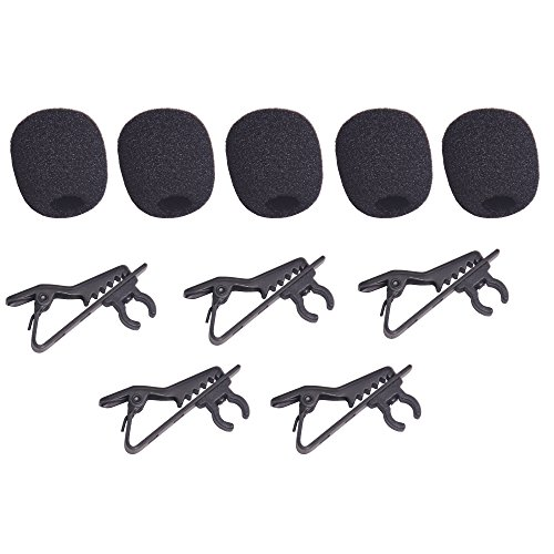 - Bestshoot Lavalier Microphone Lapel Clip and Foam Windscreen Cover, 5 Packs Lavalier Microphone Replacement, Metal Tie Collar Clip for Omnidirectional Condenser Mic, Boya Saramonic Maono.