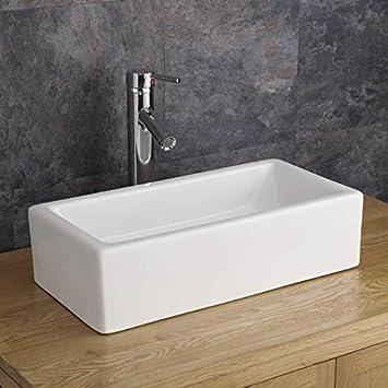 Moda Treviso Rectangular Wash Basin Sink: Amazon.co.uk: Kitchen & Home