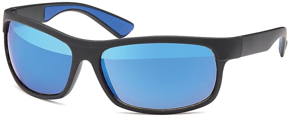 blau verspiegelt Farben mit smoke oder revo-verspiegelten Gl/äsern Kunststoff-Sportbrille in 4 versch