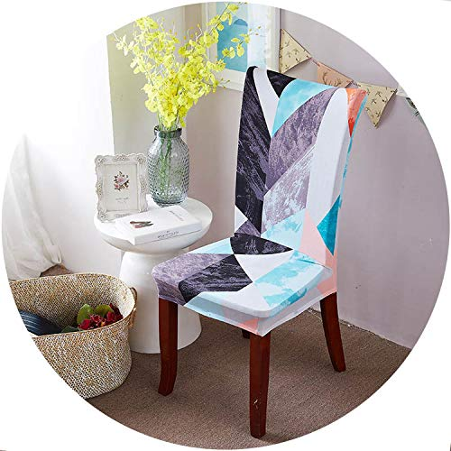 better-caress 1/2/4/6 ces Fl Printing Dining Chair Covers Elastic Removable Hotel Banquet Slipcovers fundas para sillas de comedor,Cr 14,6pcs Chair Covers]()