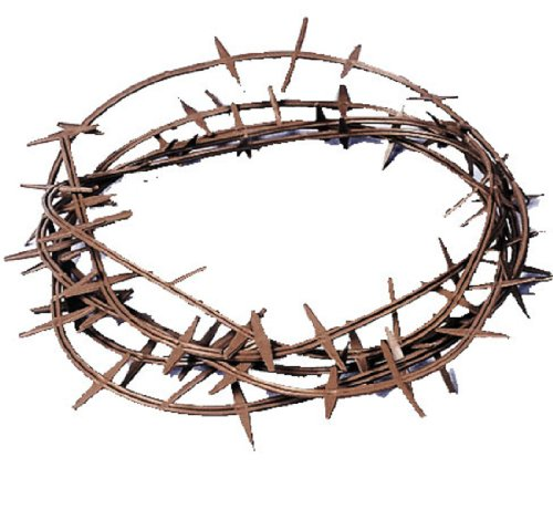 Crown Of Thorns (Plastic), Color-Brown, Fits One (Crown Of Thorns)