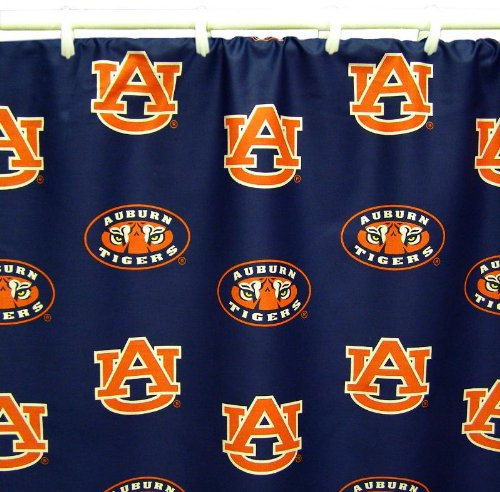 College Covers Shower Curtain Cover, 70'' x 72'', Auburn Tigers by College Covers