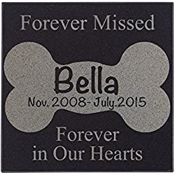 Personalized Dog Memorial Customized Dog Grave Marker Custom Headstone - DSG#7 - Aged Granite