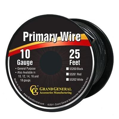 Grand General 55260 Black 10-Gauge Primary Wire: Automotive