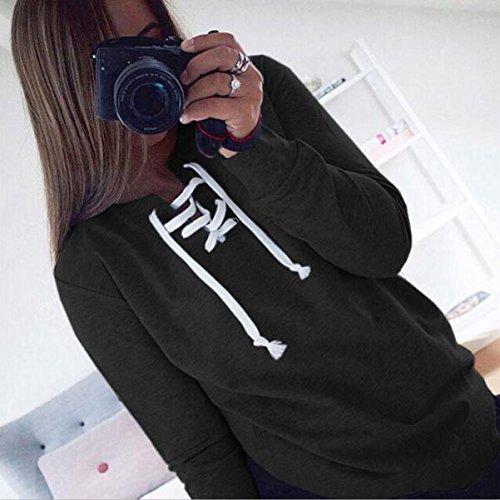 Crop Autunno Donna Felpa Tumblr T Elegante Benda Inverno Manica Nero Blusa Cappuccio Felpe Weant Sexy Top Magliette Camicia Ragazza Con Shirt Lunga Hoodie Pullover p75qwR4E4x