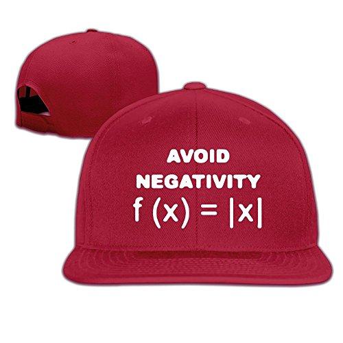 Suta Avoid Negativity Funny Math Flat Bill Snapback Adjustable Baseball Caps Hats (Mad Hatter Costume Images)