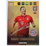 Panini FIFA 365 Adrenalyn XL 2017 Robert Lewandowski Signature Trading Card