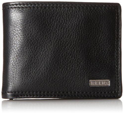 Fossil Purses Wallets - Relic by Fossil Men's Mark Leather Traveler Bifold Wallet, Black