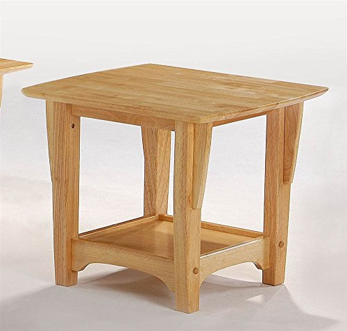 Night And Day Furniture End Table - Wood End Table in Natural Finish