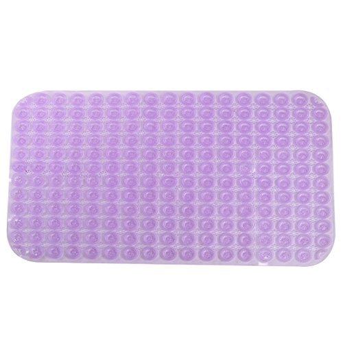 eDealMax bao de PVC rectngulo antideslizante Protector del piso Alfombra Mat Doormat 80cm x 50cm prpura