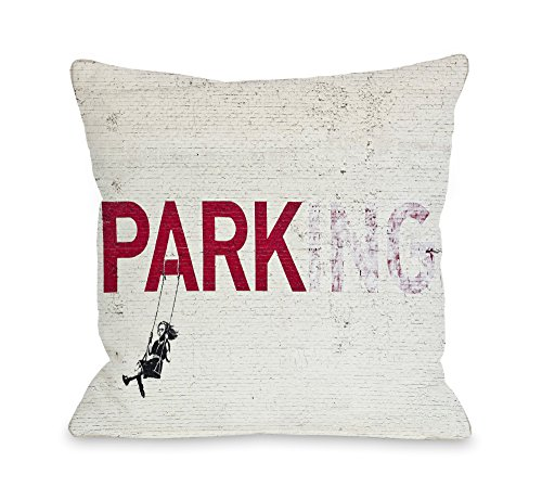 One Bella Casa Parking Throw Pillow Cover by Banksy, 18