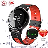 ONSTON Bluetooth Smart Watch Band Heart Rate Monitor Color Touch Screen...