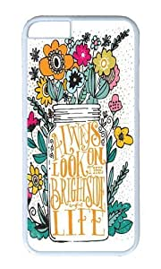 Apple Iphone 6 Case,WENJORS Awesome ALWAYS LOOK ON THE BRIGHT SIDE Hard Case Protective Shell Cell Phone Cover For Apple Iphone 6 (4.7 Inch) - PC White