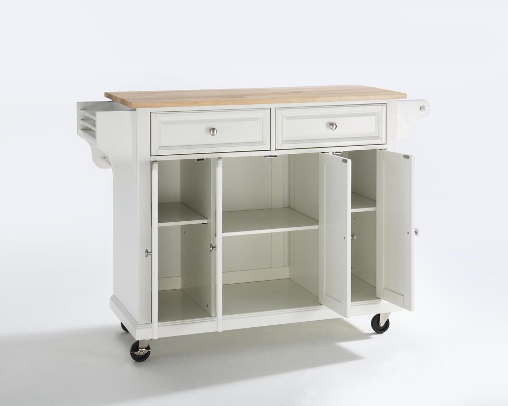 Crosley Furniture Kitchen Cart Amazoncom Crosley Furniture Natural Wood Top Kitchen Cart Island