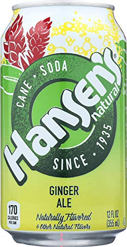 Hansen's Natural Soda Ginger Ale (6 CANS ONLY)