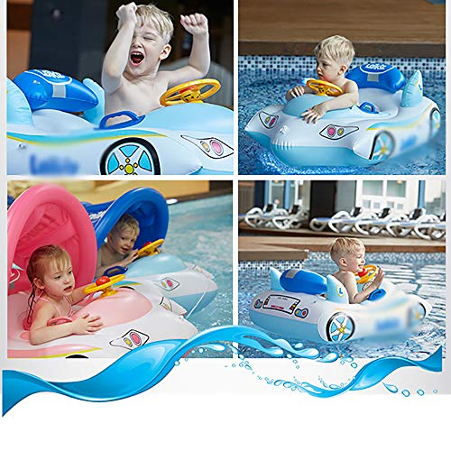 QJJML Children's Swim Ring, Newborn Baby Sitting Circle Car Swimming Boat Shade Floating Boat by QJJML (Image #2)