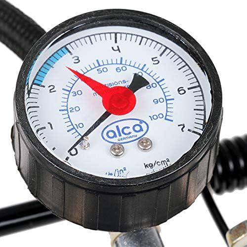 Alca Compact Double Cylinder Barrel Foot Air Pump 7 BAR 100PSI
