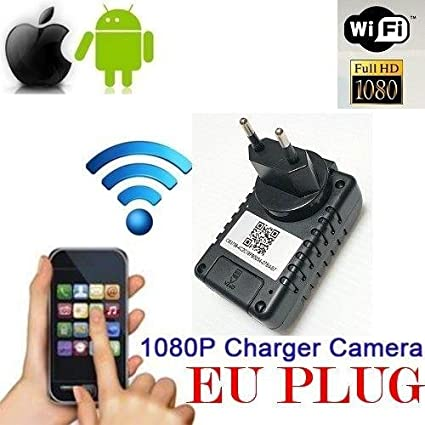 Adaptador de Muro Spy Cámara Testigo WIFI HD MOTION DETECTION CÁMARA MICRO