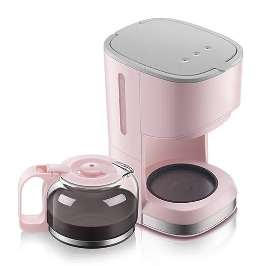JINRU Cafetera/5-Cup/con cafetera/Rosa: Amazon.es: Hogar