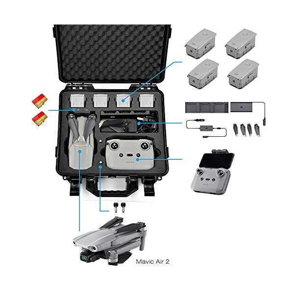 LEKUFEE Custodia da Trasporto per DJI Mavic Air 2 Drone e Accessori (Drone e Accessori Non Inclusi) 2 spesavip