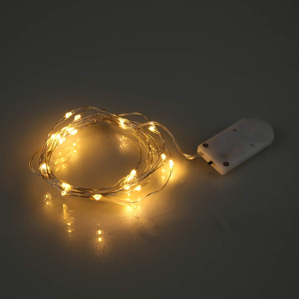 Balight Christmas String Light 2m 20 LED Battery Operated Waterproof Fairy Led Light for DIY Outdoor Thanksgiving Party Holiday Festival Decor (Copper Wire Lights)