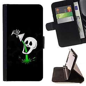 For Samsung Galaxy S3 Mini I8190Samsung Galaxy S3 Mini I8190 - Funny Cocktail Skull Death Poison /Funda de piel cubierta de la carpeta Foilo con cierre magn???¡¯????tico/ - Super Marley Shop -