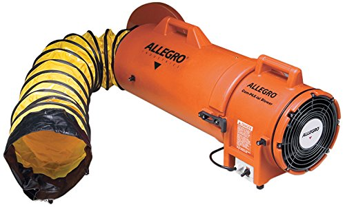 Allegro Industries 9533‐25 Plastic Compaxial Blower, AC with 25' Ducting and Canister Assembly, 8'' by Allegro Industries (Image #1)