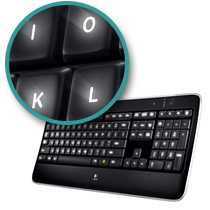 backlist keys on the k800