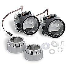 "2.5"" H1 MINI Bi-Xenon Projector Lenses + FREE Mini Gatling Shrouds by ALI®"
