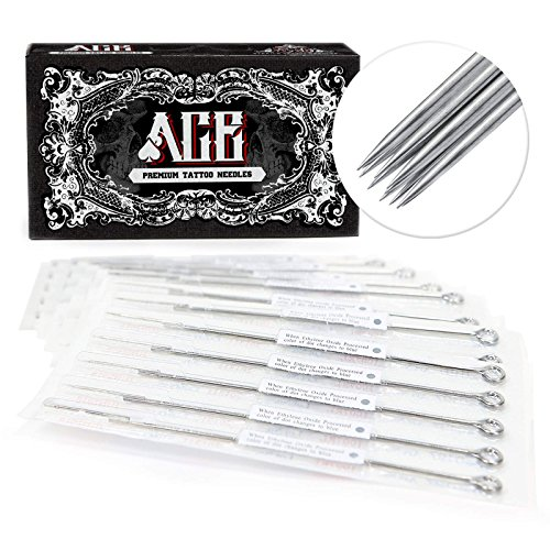 ACE Needles 50 pcs. 11 Round Shader Pre-made Sterile Tattoo Needles - 11RS (Shader Needles Round Tattoo)