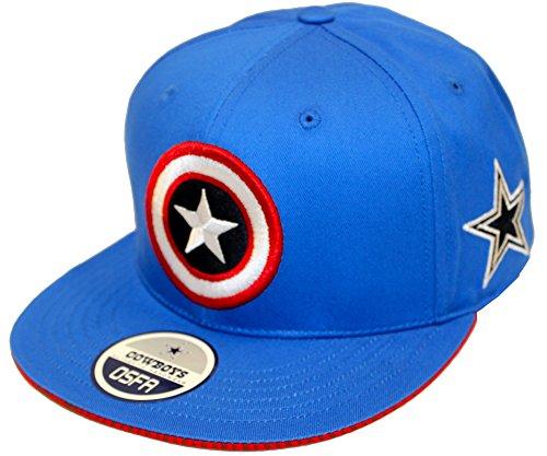 Captain Shield Brim Dallas Cowboys Blue Captian America Snapback