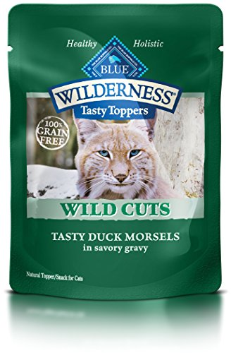 BLUE Wilderness Tasty Toppers Wild Cuts Grain Free Tasty Duck Morsels in Savory Gravy Wet Cat Food 3-oz (pack of 24)