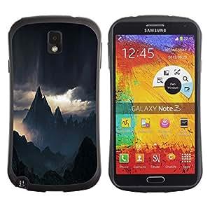 "Hypernova Slim Fit Dual Barniz Protector Caso Case Funda Para Samsung Note 3 [Selva Madagascar Sun""]"