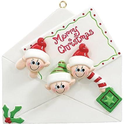 Adornos de Navidad personalizada 2017 Navidad carta de 3 ...