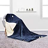 MaxKare Large Electric Heated Blanket with Adjustable Timer and 6 Optional Levels, Heated Throw Blanket with Fast-heating Technology and Machine-washable Fabrics for Full Body Comfort (130x180cm)