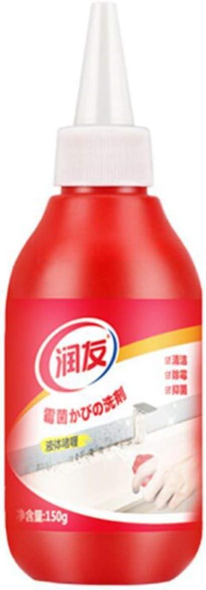 BIYI Limpiador de azulejos para el hogar Detergente fungicida para paredes de piso Eliminación de moho de alta eficiencia Gel antibacteriano Baño Cocina (rojo)