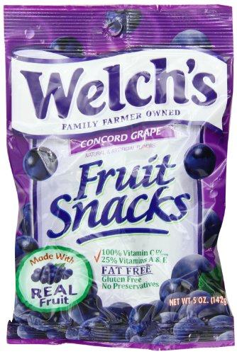 Welchs Grape Fruit Snacks, 5-Ounce (Pack of -