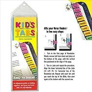 G T Luscombe 125852 Bible Tab Verse Finders Horizontal Thin Pack Kids Tab